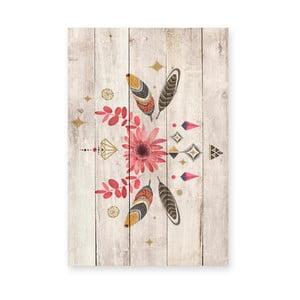 Nástenná dekorácia z borovicového dreva Madre Selva Gipsy, 60×40 cm