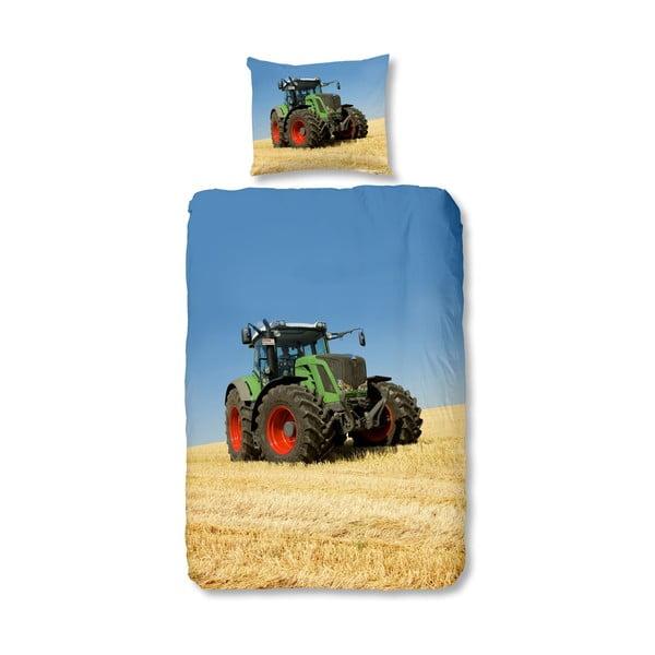 Detské obliečky na jednolôžko z čistej bavlny Good Morning Tractor, 140 × 200 cm