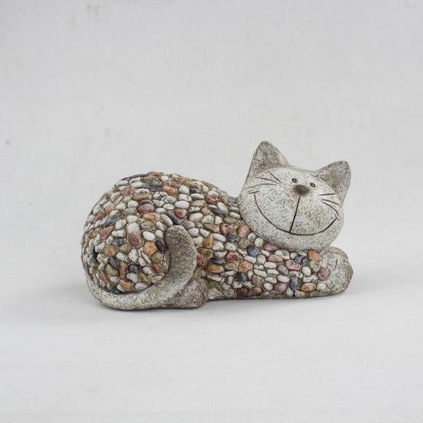 Záhradná dekorácia Dakls Garden Deco Cat With Stones, výška 18 cm