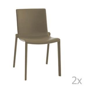 Sada 2 hnedých záhradných stoličiek Resol Kat