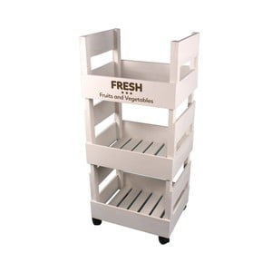 Príručný kuchynský stolík Maiko Boxes v bielej farbe