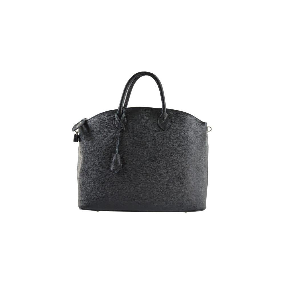 Čierna kožená kabelka Chicca Borse Meria