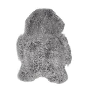Svetlosivá ovčia kožušina s krátkym vlasom, 90 x 60 cm