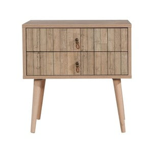 Drevený nočný stolík Iris Stripes