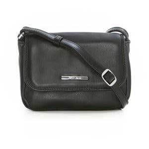 Čierna kožená kabelka Gianni Conti Priscilla