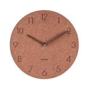 Hnedé nástenné drevené hodiny Karlsson Dura, Ø29cm