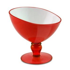 Červený pohár na dezert Vialli Design Livio, 180 ml