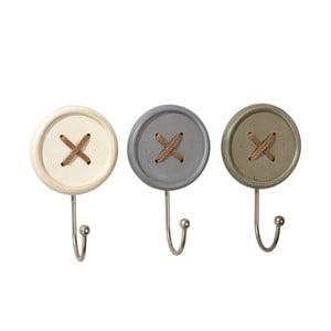 Sada 3 háčikov Ludic Buttons