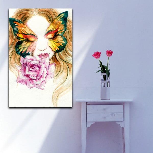 Obraz Motýlia žena, 70x100 cm