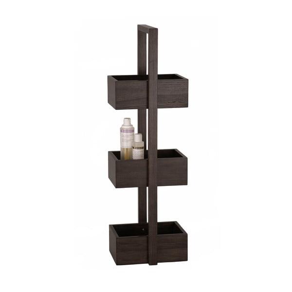 Drevený stojan do kúpeľne Wireworks Caddy Mezza Dark, 84cm