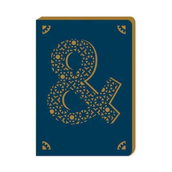 Linajkový zápisník A6 s monogramom Portico Designs &, 160stránok