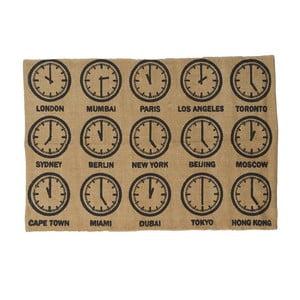 Bavlnený koberec Clock, 60x90 cm