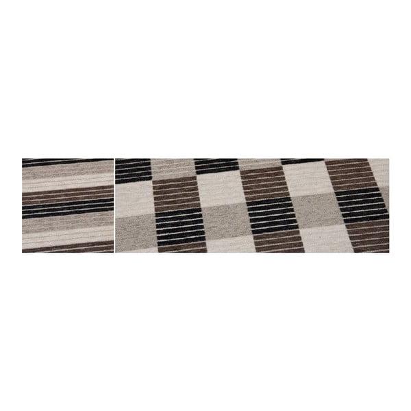 Koberec Square Brown, 80x150 cm