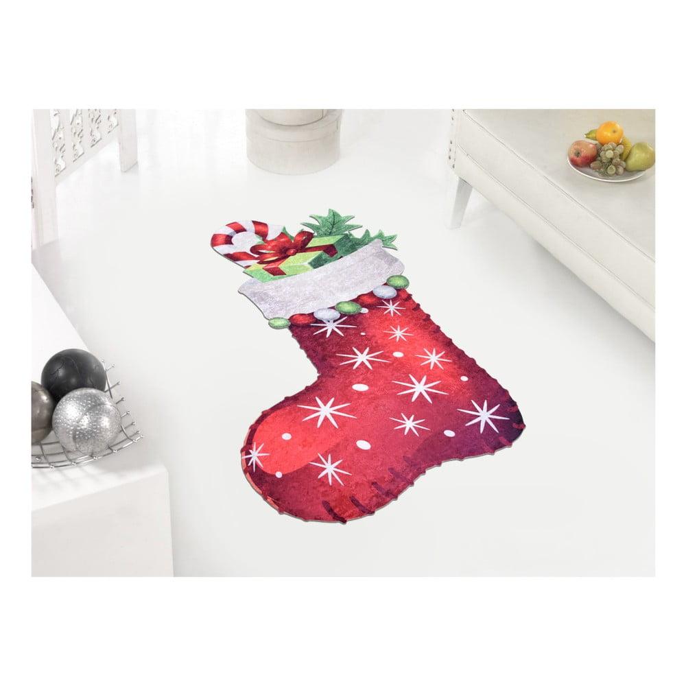 Koberec Vitaus Red Sock, 60 × 100 cm