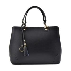 Čierna kožená kabelka Isabella Rhea Mismo