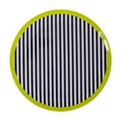 Čierno-biely pruhovaný tanier Premier Housewares Mimo, ⌀ 20cm