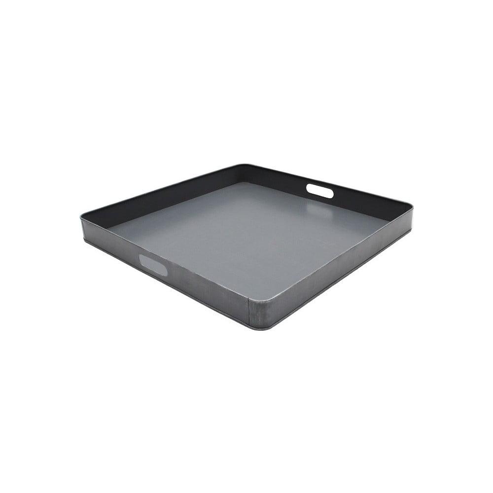 Sivý kovový servírovací podnos LABEL51, 60 x 60 cm