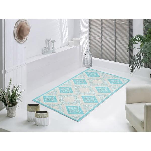 Modrý odolný koberec Vitaus Azalea, 100x150cm
