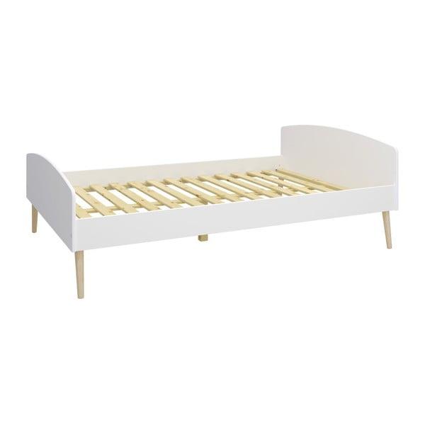 Biela jednolôžková posteľ Steens Soft Line, 140 × 200 cm