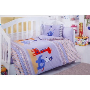Set detských obliečok a plachty Blue Elephant, 120x150 cm