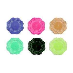 Sada 6 farebných plastových tanierov Villad'Este Hippy