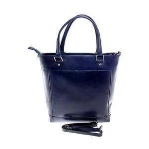 Modrá kožená taška Chicca Borse Crosti