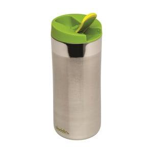 Antikoro termohrnček so zeleným viečkom Aladdin Flip-Seal ™, 350ml