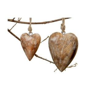 Závesné srdce Boltze Heart Natural, 15 cm