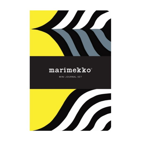 Set mini zápisníkov Chronicle Books Marimekko Mini Journal Set