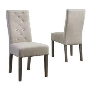Béžová jedálenská stolička s podnožím z dubového dreva Canett Tango