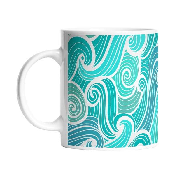 Keramický hrnček Beach Waves, 330 ml