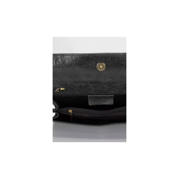 Čierna kožená kabelka Giulia Massari Siana