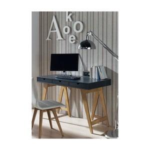 Sivý konzolový stolík zborovicového dreva SOB Gaudino