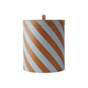 Oranžovo-biely úložný box OYOY Cute, ⌀ 23 cm