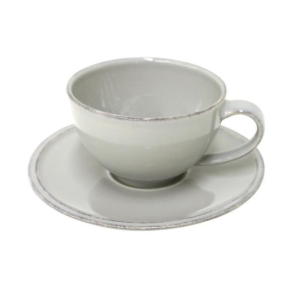 Sivá kameninová šálka na čaj s tanierikom Costa Nova Friso, objem 260ml