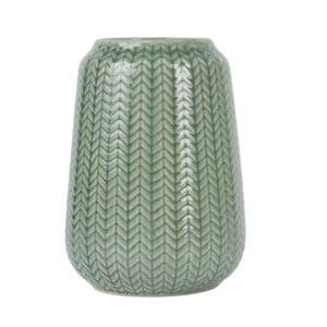 Stredná zelená váza Present Time Knitted