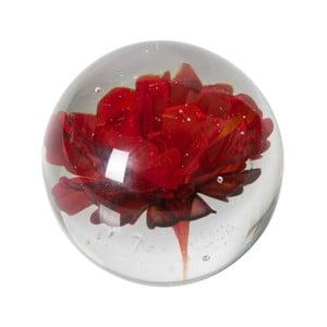 Sklenené ťažítko s červenou kvetinou BePureHome Botanics