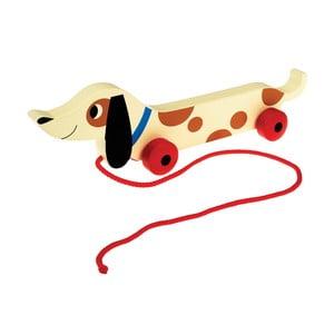 Drevený ťahací jazvečík Rex London Charlie The Sausage Dog