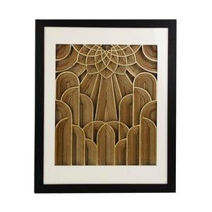 Obraz s rámom z borovicového dreva VICAL HOME Formas