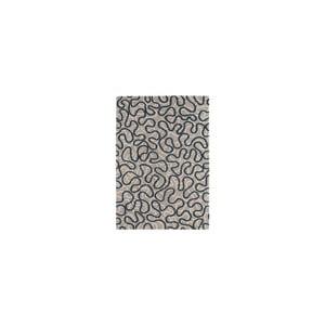 Vlnený koberce Squiggle Blue, 120x170 cm