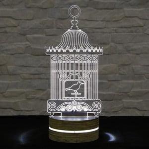 3D stolová lampa Bird Cage
