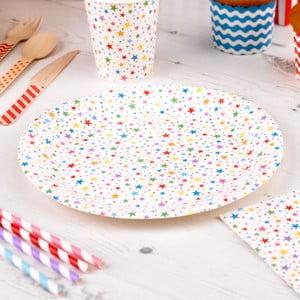 Sada 8 papierových tanierov Neviti Carnival Stars