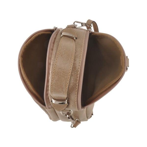 Kožená kabelka Men, béžová