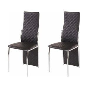 Sada 2 čiernych jedálenských stoličiek Støraa Wilson