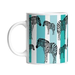 Keramický hrnček Striped Zebra, 330 ml