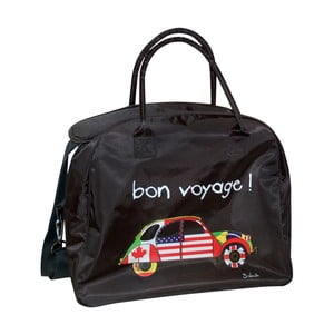 Čierna cestovná taška Incidence Bon Voyage, 42 x 35 cm