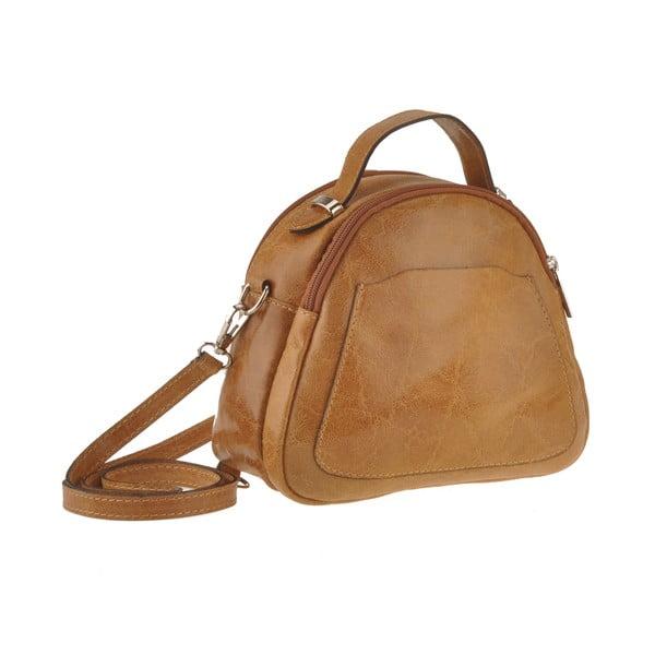 Kožená kabelka Men, hnedá