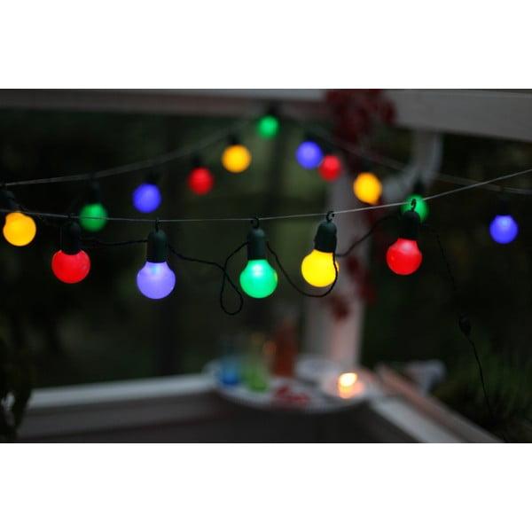 Farebná svetelná LED reťaz Best Season Party, 20svetielok