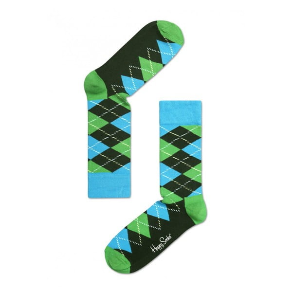 Ponožky Happy Socks Green and Blue, veľ. 36-40