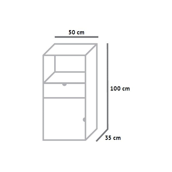 Vyššia skrinka Fam Fara, výška 100 cm